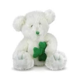 CBE, Inc. White Stuffed Bear with Shamrock