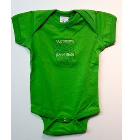 Wee Ones Mommy's Pot of Gold Onesie:  Apple Green
