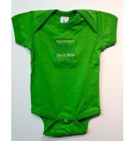 Wee Ones Mommy's Pot of Gold Onesie:  Apple Green