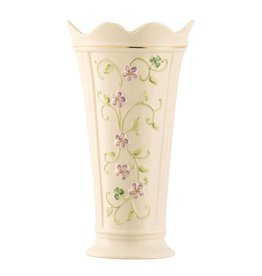 "Belleek Belleek Irish Flax 9.5"" Vase"