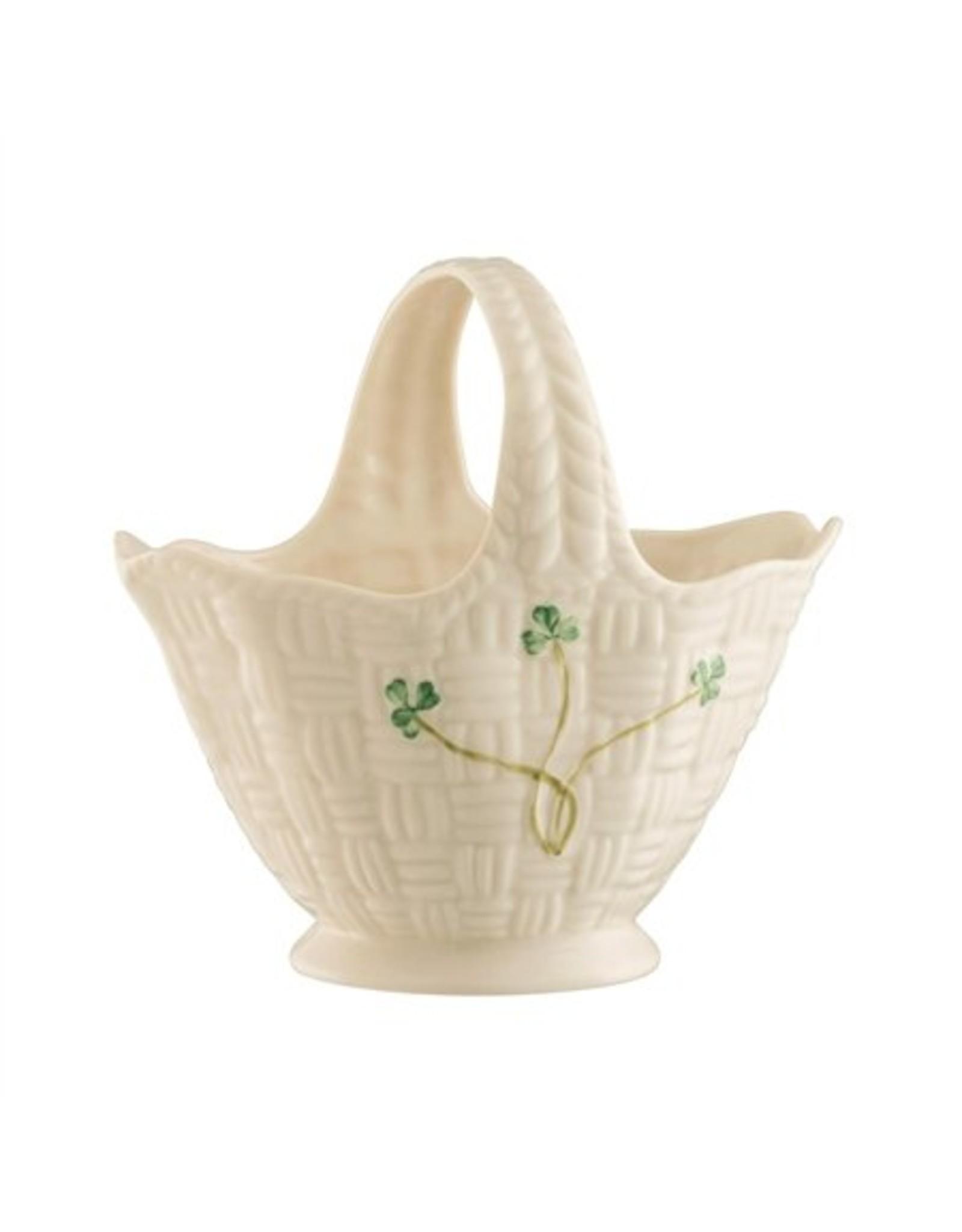 Belleek Belleek Shamrock Handled Basket