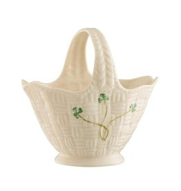 Belleek Belleek Shamrock Handled Basket