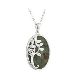 Solvar S/S Connemara Marble Tree of Life Necklace
