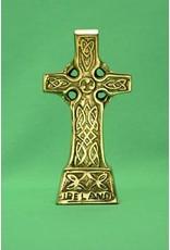 Liffey Artefacts Brass Standing Celtic Cross Small