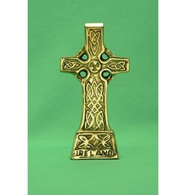 Liffey Artefacts Brass Standing Celtic Cross Small