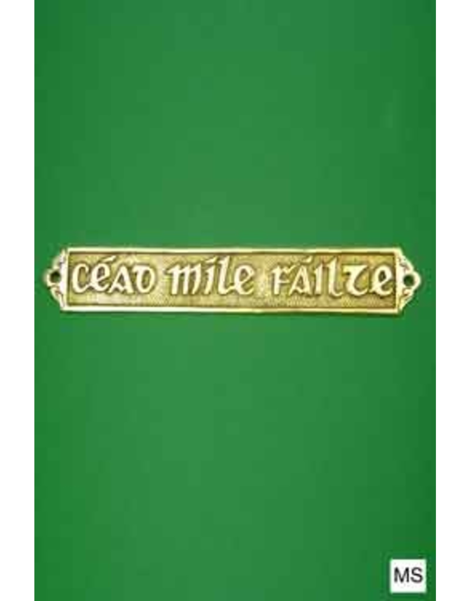 Liffey Artefacts Brass Cead Mile Failte Door Sign
