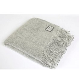 Foxford Light Grey Mohair Throw Blanket