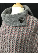 Branigan Weavers Amy Poncho: Connemara Light Grey