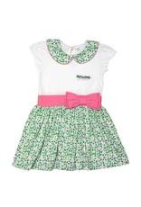 Traditional Craftwear White+Green+Pink Kids Ireland Dress