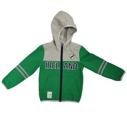 Lansdowne Green+Grey Kids Full Zip Hoodie