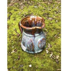 Colm de Ris Pottery Colm Irish Pottery Blue Leaf Jug