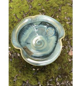 Colm de Ris Pottery Colm Irish Pottery Green Clover Bowl