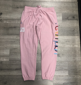 KITH X CHAMPION SWEATPANTS PINK