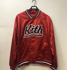KITH/MITCHELL & NESS JACKET RED