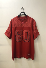 CLOTHES SUPREME RED MONOGRAM FOOTBALL JERSEY