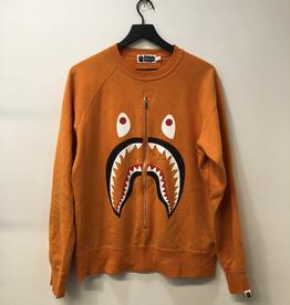 CLOTHES BAPE SHARK ORANGE ZIP CREWNECK