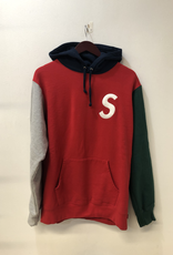 SUPREME S LOGO COLORBLOCKED PULLOVER HOOD