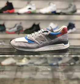NEW BALANCE 998 GREY LIGHT BLUE RED