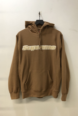 SUPREME CHENNILLE OULLOVER HOOD BEIGE