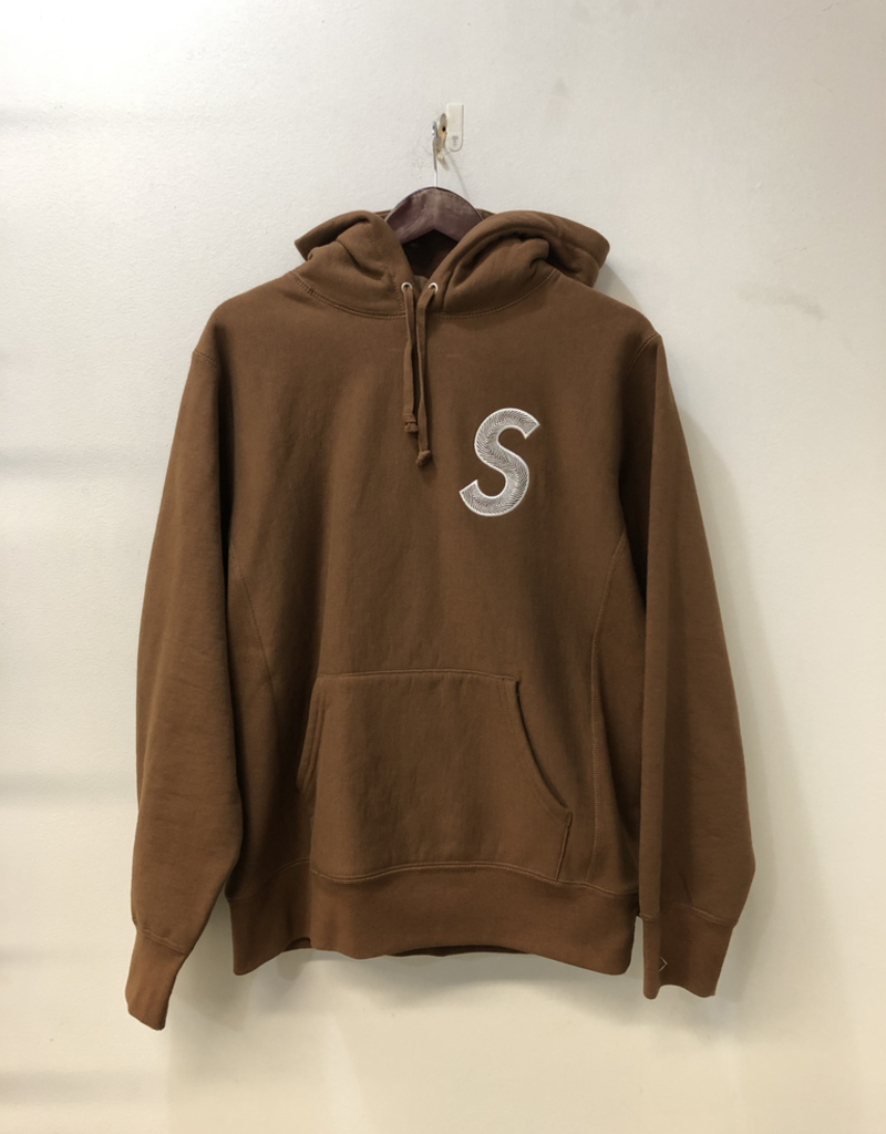 SUPREME S LOGO BROWN