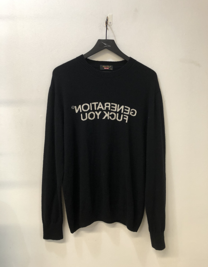SUPREME UNDERCOVER GENERATION FUCK YOU SWEATER
