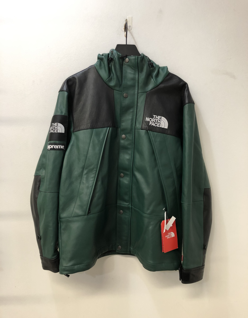SUPREME THE NORTH FACE LEATHER JACKET GREEN - U7 C-122325