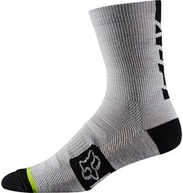 "Fox Fox Merino Wool 6"" Socks HtrWht SM"