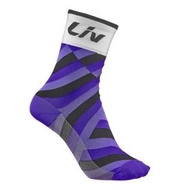 Liv Liv Race Day Sock White/Purple M/L