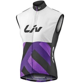 Liv Liv Race Day Windbreaker Vest White//Purple Md