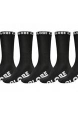 GLOBE 5 Pack Socks Blackout 7-11