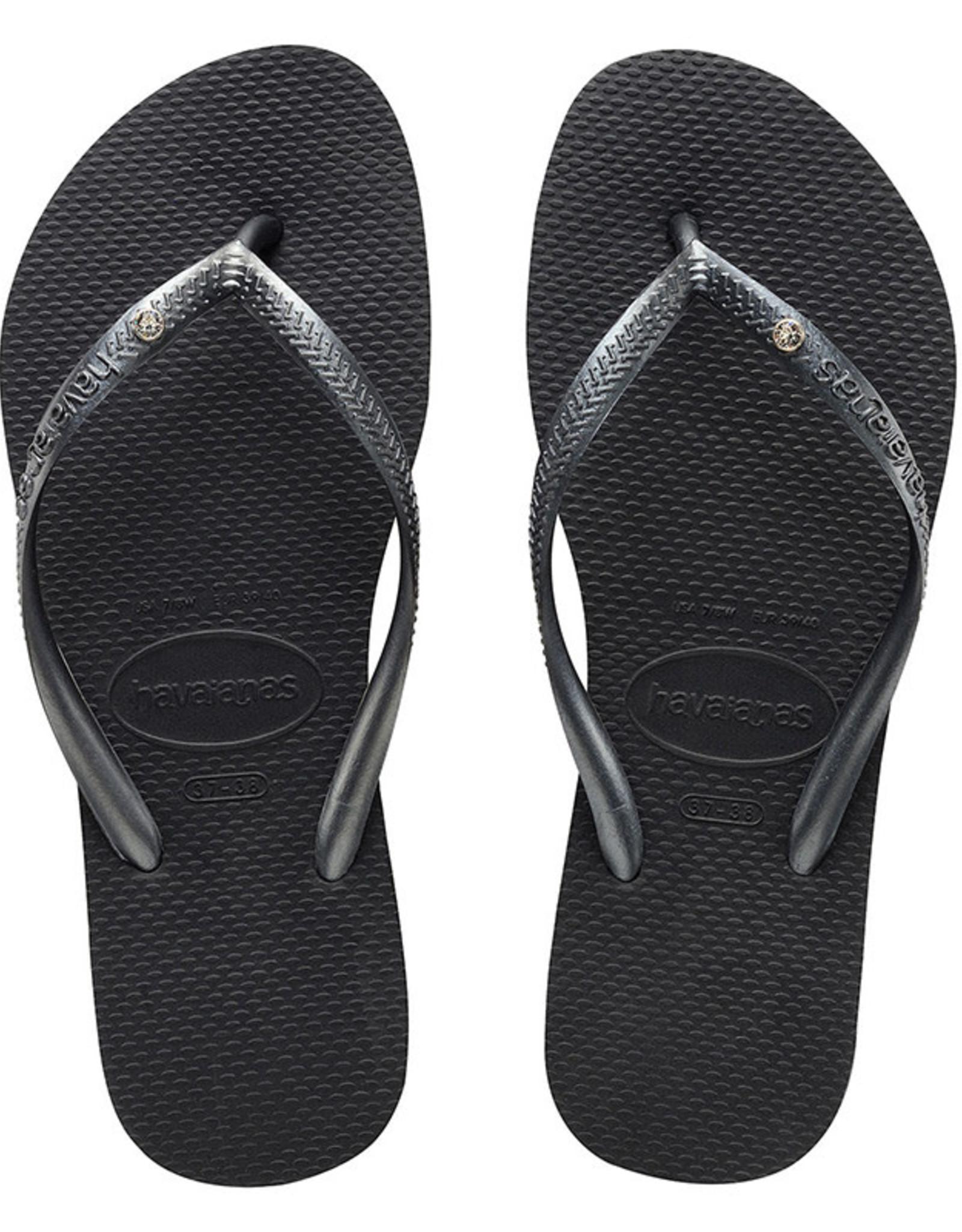 HAVAIANAS Slim Crystal Grey Thongs
