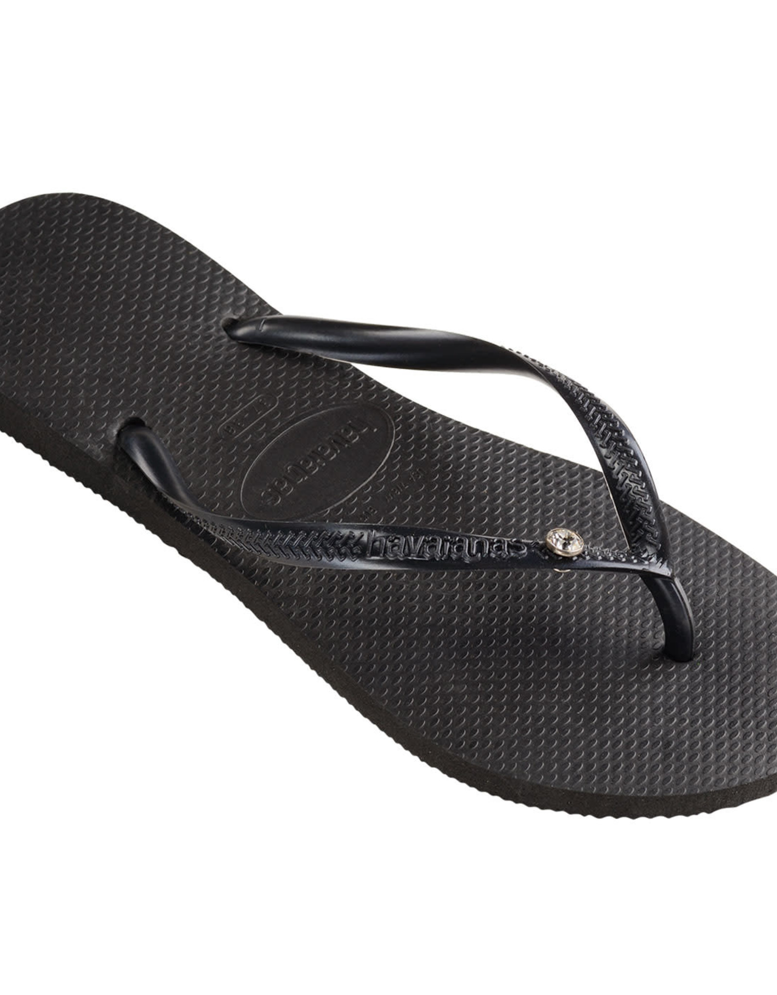 HAVAIANAS Slim Crystal Black/Black Thongs