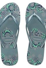HAVAIANAS Slim Organic Silver Blue Thongs