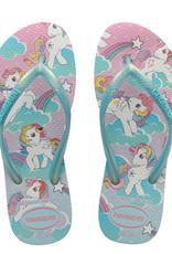 HAVAIANAS Kids Slim My Little Pony White Thongs