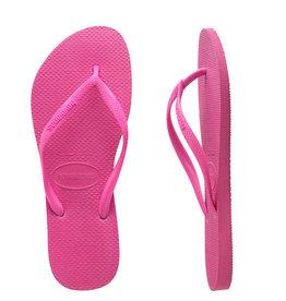 HAVAIANAS Kids Slim Basic Shocking Pink Thongs