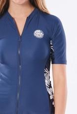 RIP CURL Hacienda Zip Thru Short Sleeve Rash Vest