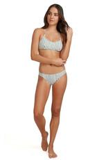 ROXY Printed Beach Classics Athletic Tri Bikini Top - Size M