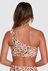BILLABONG Hula Palm One Shoulder Crop Bikini Top