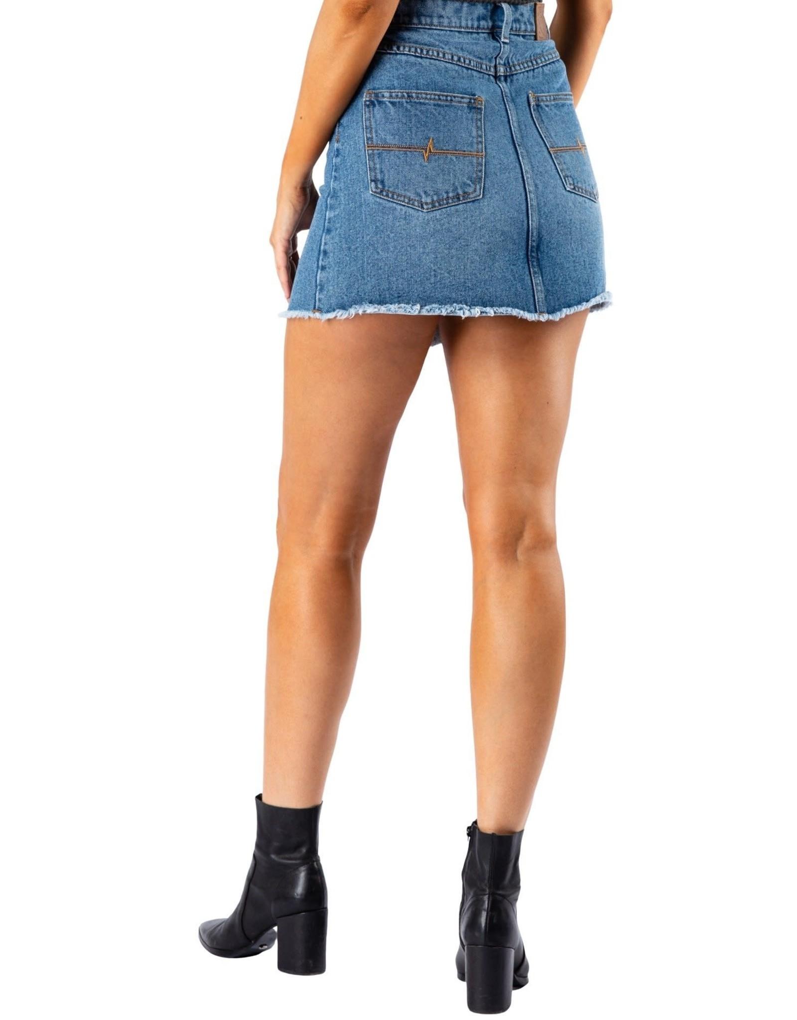 RUSTY Picasso Denim Skirt