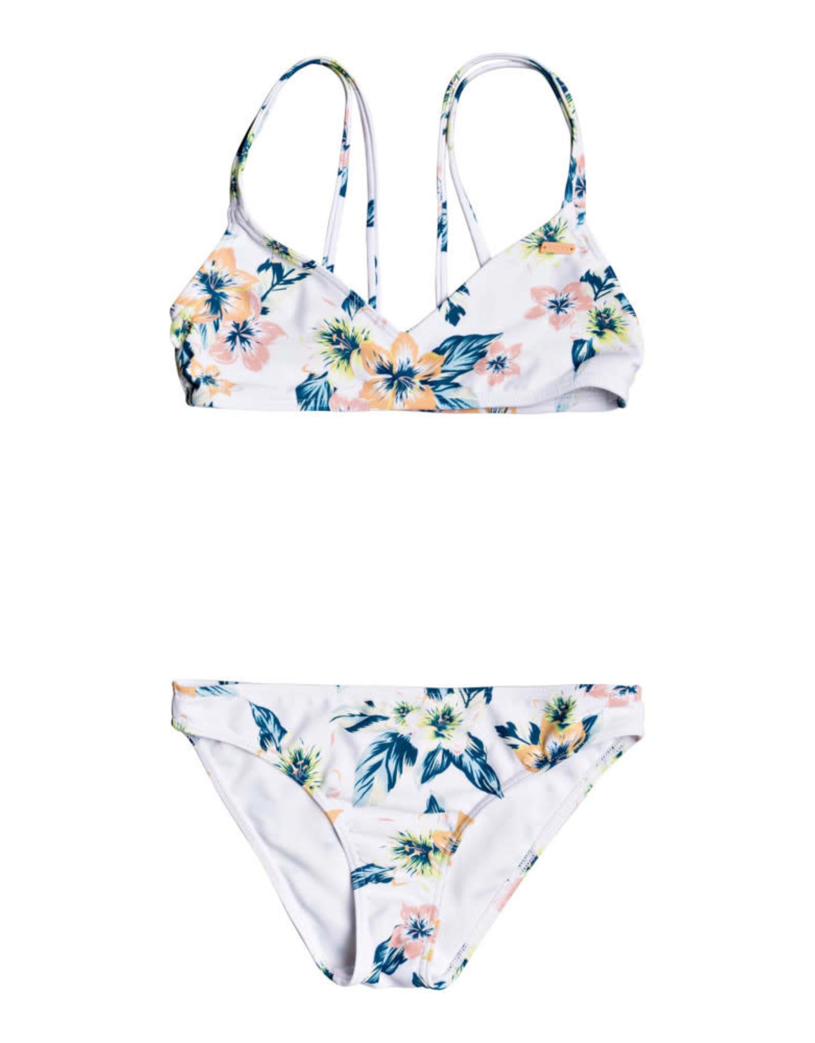 ROXY Girls Pinky Skies Athletic Bikini Set - Size 8