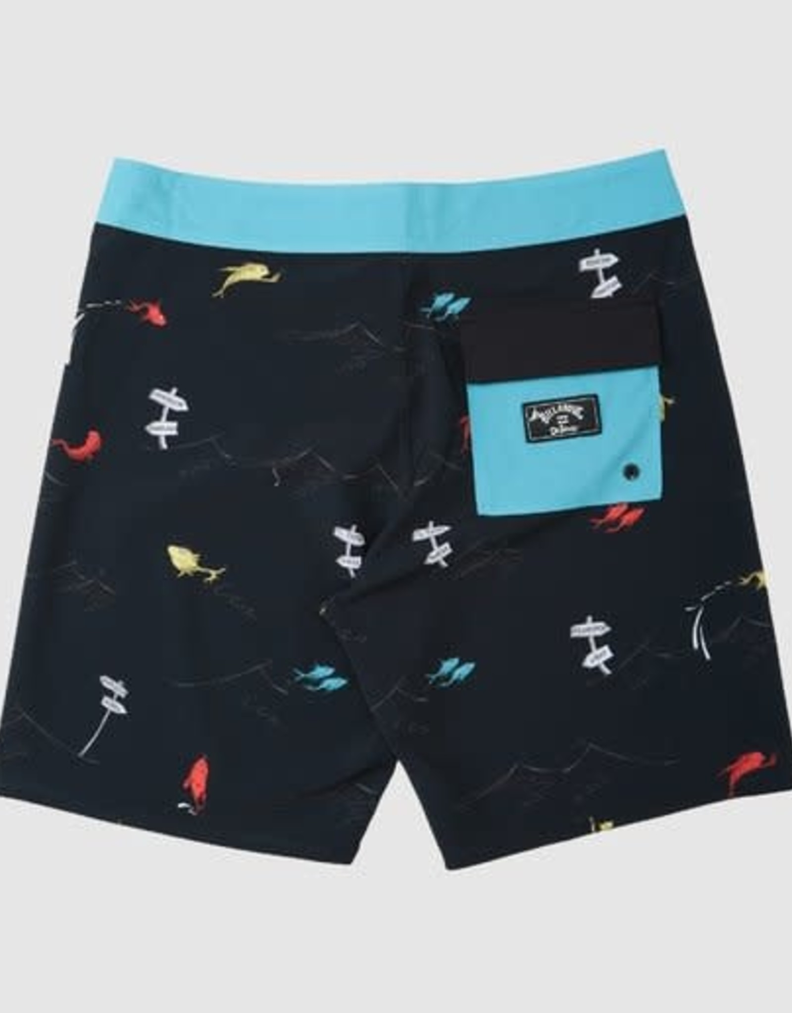 BILLABONG Grom Boys Dr. Seuss One Fish Two Fish Boardshorts - Size 2