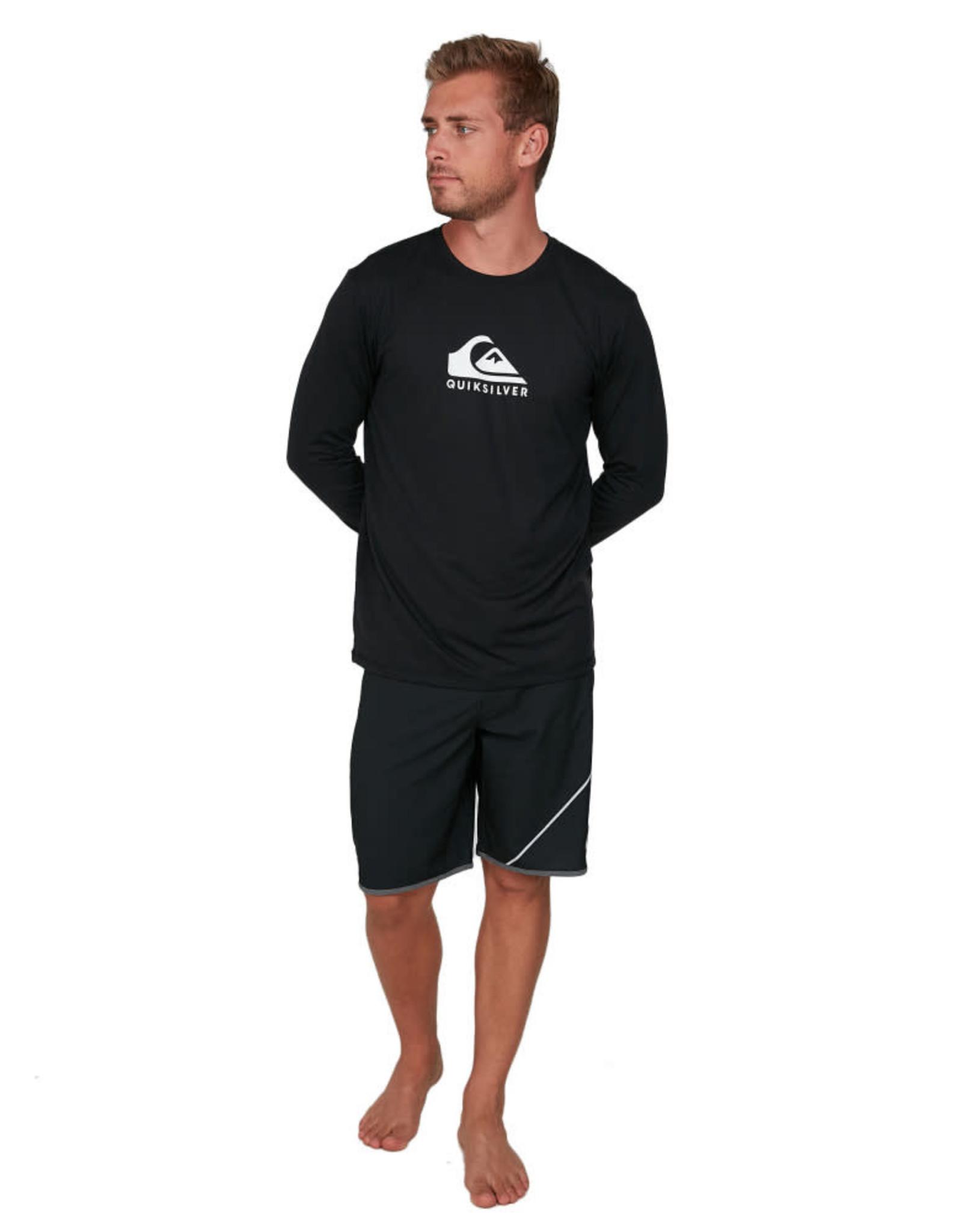 QUIKSILVER Solid Streak Long Sleeve Rash Vest