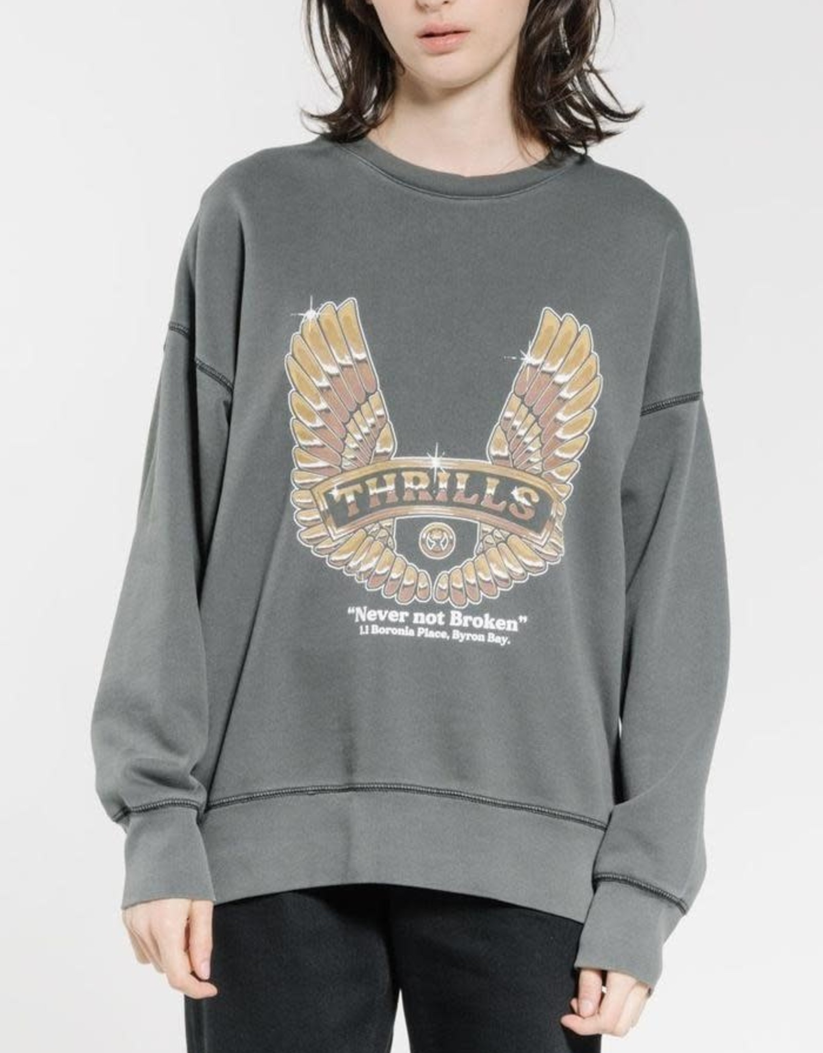 THRILLS Wings of Steel Slouch Crew