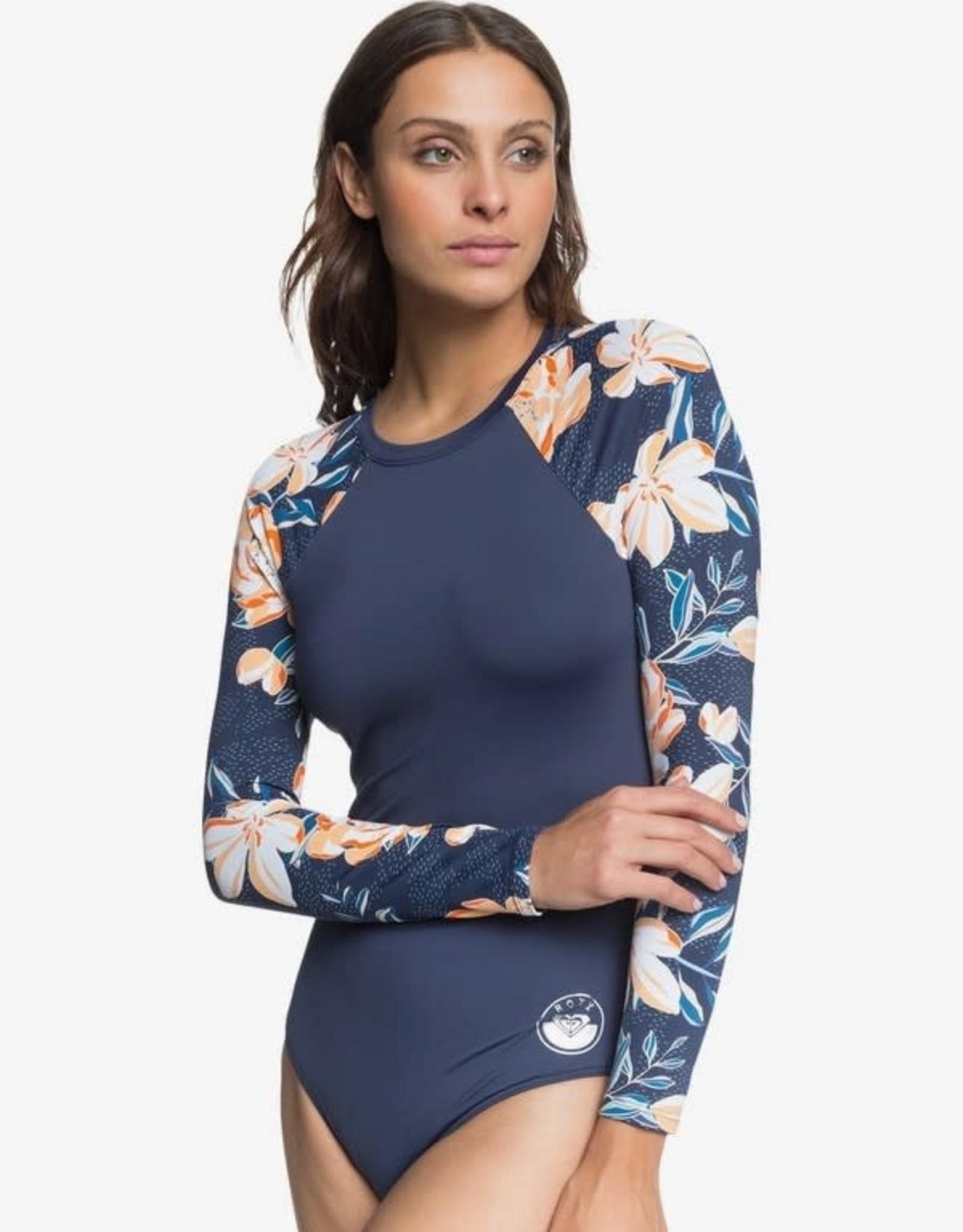 ROXY Lilies Surf Long Sleeve UPF 50 One-Piece Swimsuit