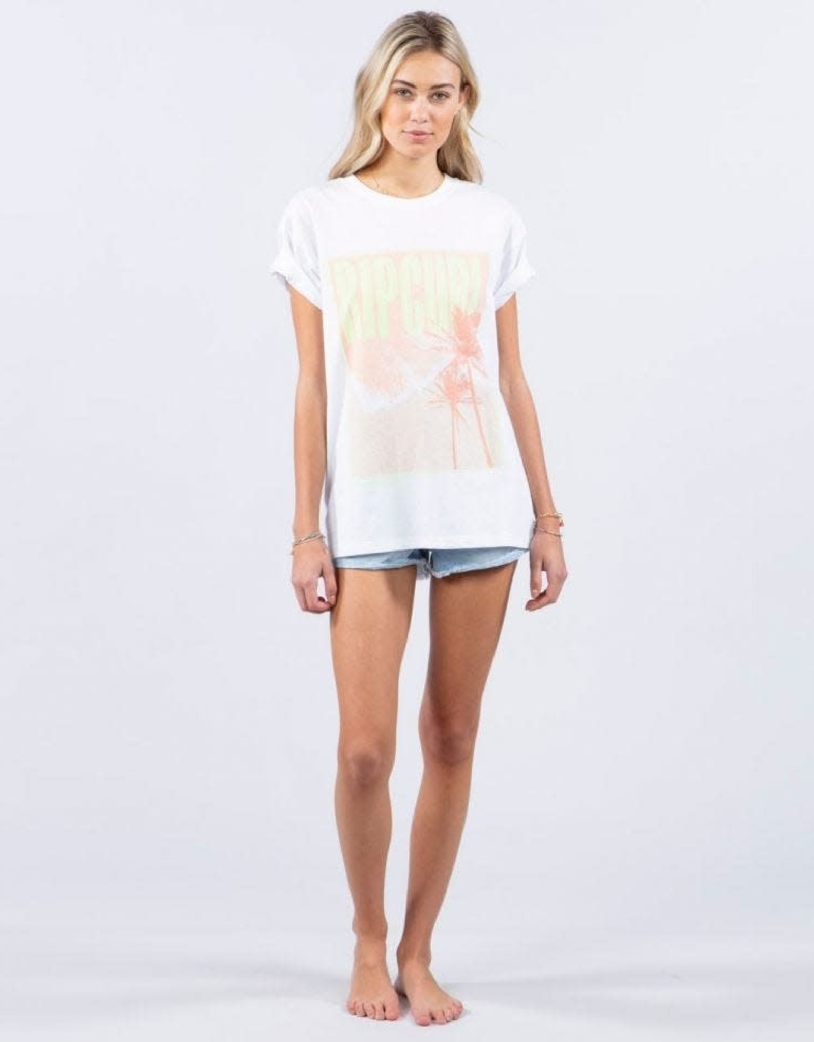 RIP CURL Twin Fin Oversized Poster Tee