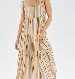 MINKPINK Zohra Tie Tiered Maxi Dress