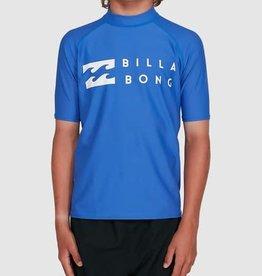 BILLABONG Boys Union Regular Fit Short Sleeve Rash Vest