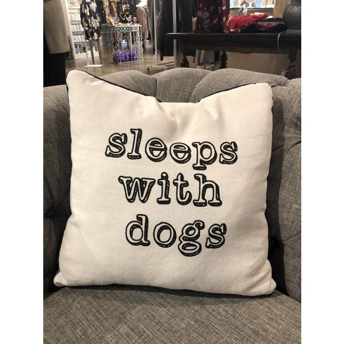 ''Sleeps with Dogs'' Pillow--