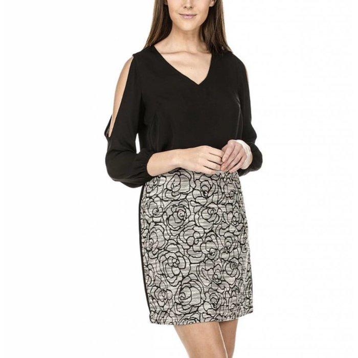 Roses Side Trim Skirt