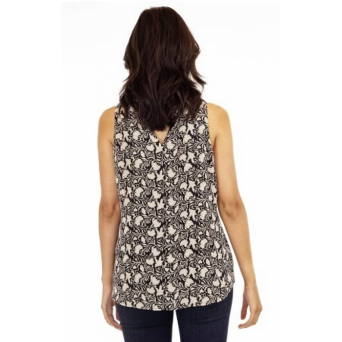 T Neck Sleeveless Top